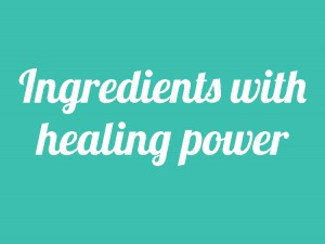 Ingredients with healing power