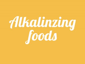 Alkalizing foods