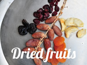 Fresh and dried fruits