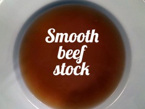 Beef stock smooth