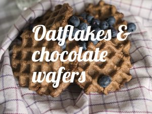 Oatflakes wafers homemade