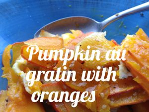 Pumpkin au gratin with oranges