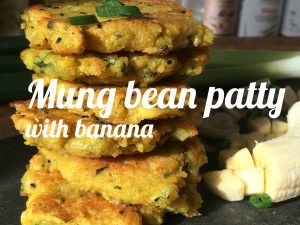 Mung bean patty banana