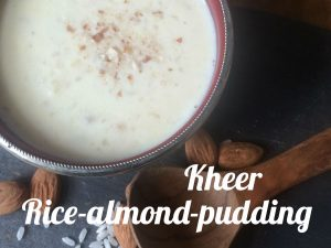 Kheer rice almond pudding