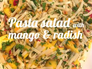 Pasta salad with mango