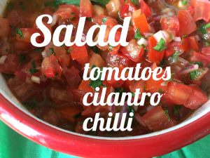 Tomato salad with cilantro