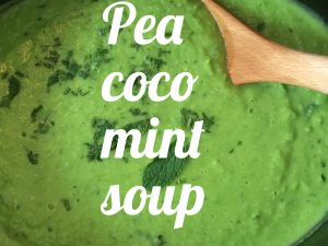 Pea coco mint soup