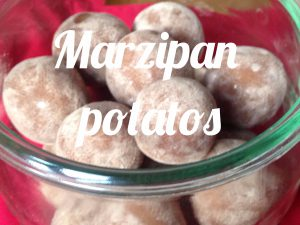Marzipan potatos