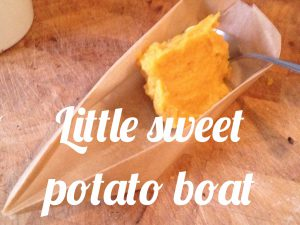 Little sweet potato boat