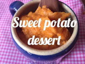 Sweet potato dessert