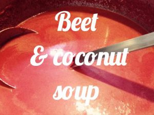 Beet coconut soup