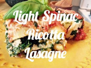 Lasagne spinac ricotta light